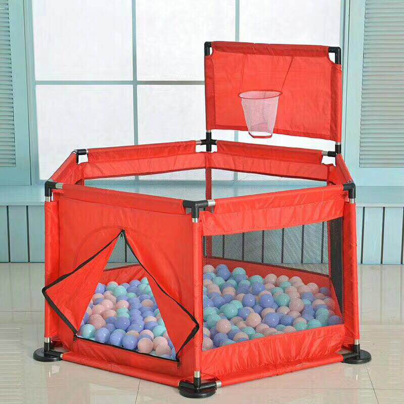 Image 4 - Baby Playpen Portable Plastic Fencing For Children Folding Safety Fence Barriers For Ball Pool For Child Travel Basketball hoop-in Baby Playpens from Mother & Kids