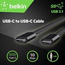 10 гбит/с типа с belkin оригинальный usb 3.1 usb-c, чтобы usb-c синхронизации зарядки кабель для macbook pro для samsung galaxy s8 с розничным пакетом