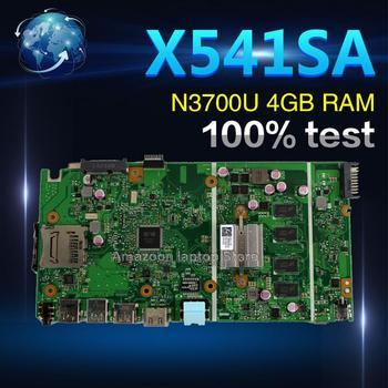 Amazoon X541SA motherboard  For ASUS X541 X541S X541SA laptop motherboard X541SA mainboard  test OK 4 cores cpu 4GB RAM