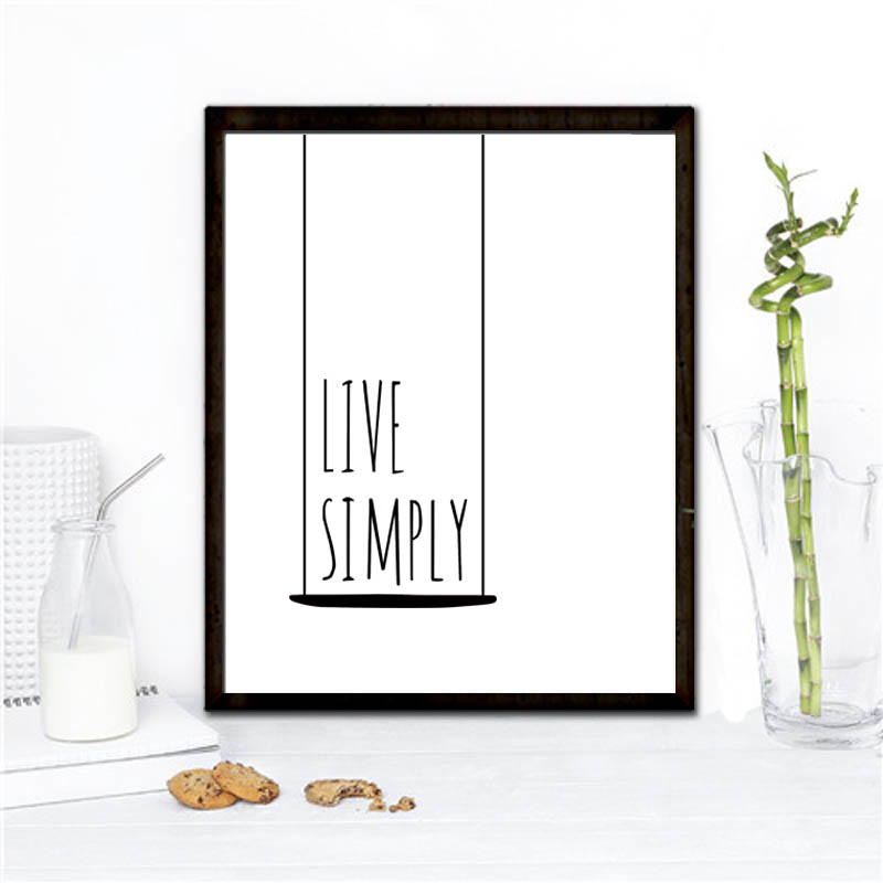 A2 live simply canvas wall art print poster for home bar for Live simply wall art