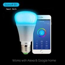 Sonoff B1 E27 LED gyertyafényes izzó, 6W Dimmable Wiif intelligens izzó, energiatakarékos távirányító Intelligens otthoni automatizálás modul