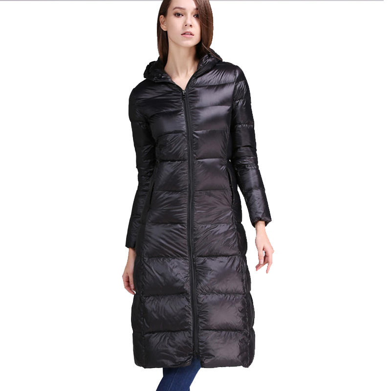 plus s-5XL X-1ong ultra keep warm Down Jacket thick white duck down Winter Women Wadded Jackets Hooded Parkas Slim Coats Luxury winter keep warm thicken women s cotton slim long coat hooded parka jackets coats white overcoat plus size down parkas clothes