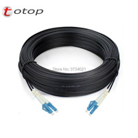 500M Outdoor LC UPC Duplex FTTH Drop Patch Cable LC Singlemode Duplex G657A Fiber optic patch cord FTTH fiber optic jumper Cable