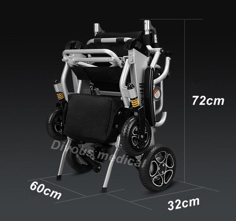 Il trasporto libero Pieghevole Intelligente sedia portatile leggero potere sedia a rotelle elettrica con motore brushless batteria al litio