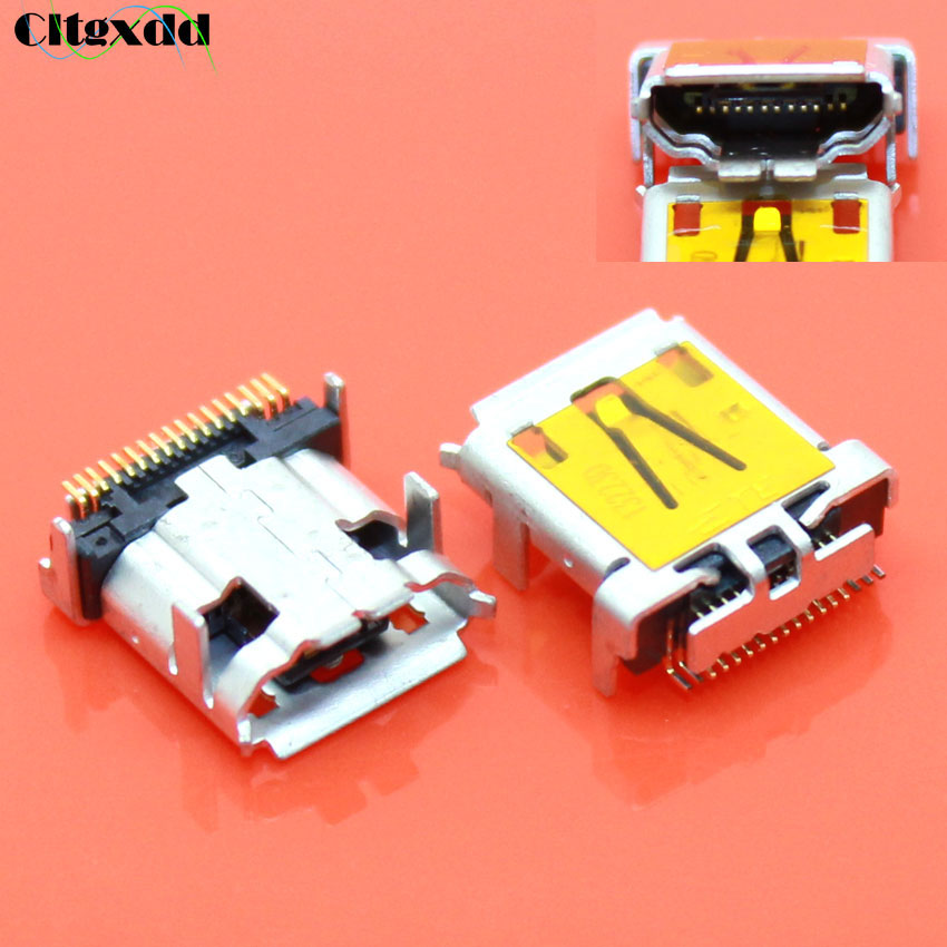 Cltgxdd 1pcs Micro Mini USB Connector , 17 Pin Female USB Jack Socket Charging Port For Acer Iconia Tab A700 A701 A510