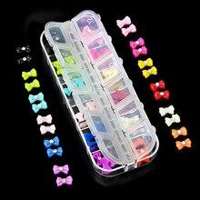 60 шт., 12 цветов, модные 3D блестки, галстук-бабочка, хрустальные стразы, наклейки для нейл-арта, советы, DIY украшения 5VXV 7H1I