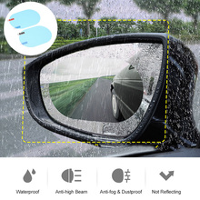 Car Rearview Mirror Protective Film 2Pcs Oval Rearview Mirror Window Protective Film Car Anti Water Fog Film Rainproof Sticker