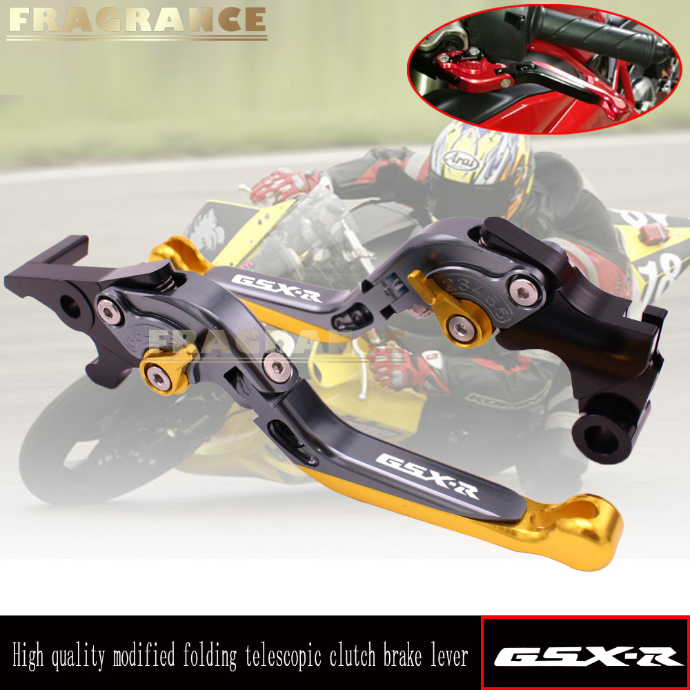For SUZUKI GSXR GSX R 600 750 1000 K1 K2 K3 K4 K5 K6 K7 K8 K9 Motorcycle Accessories CNC Adjustable Folding Brake Clutch Levers