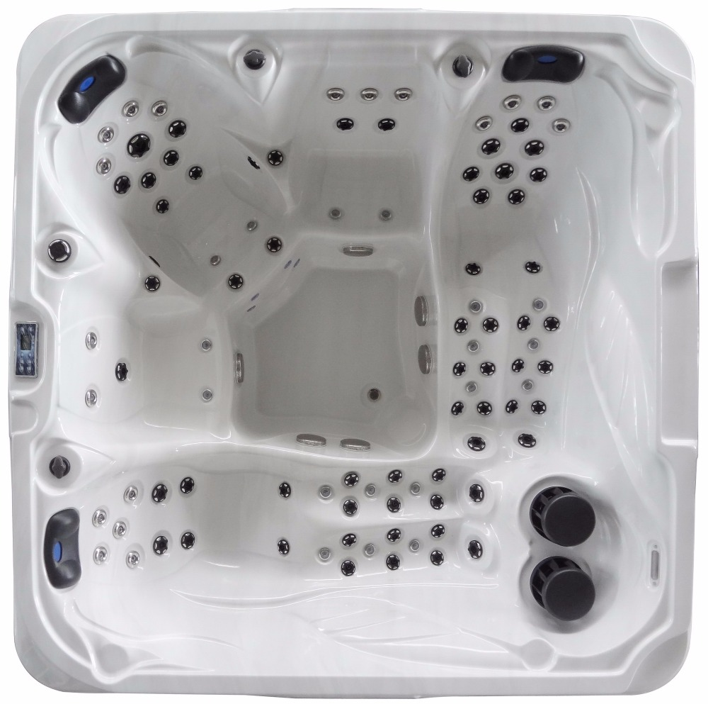 2805 Luxury whirlpool massage bathtub with 2 lounger for 5 person