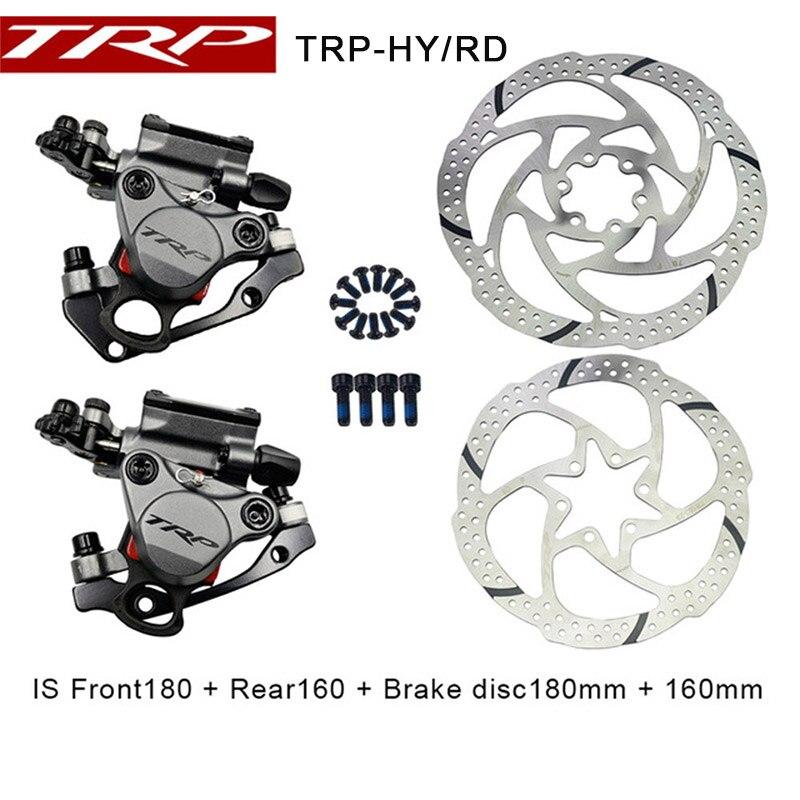 TRP HY/RD Post Mount Câble Actionné disque hydraulique etrier de frein 160mm w/ou w/o Rotor Avant /arrière/Set HYRD ROUTE gris