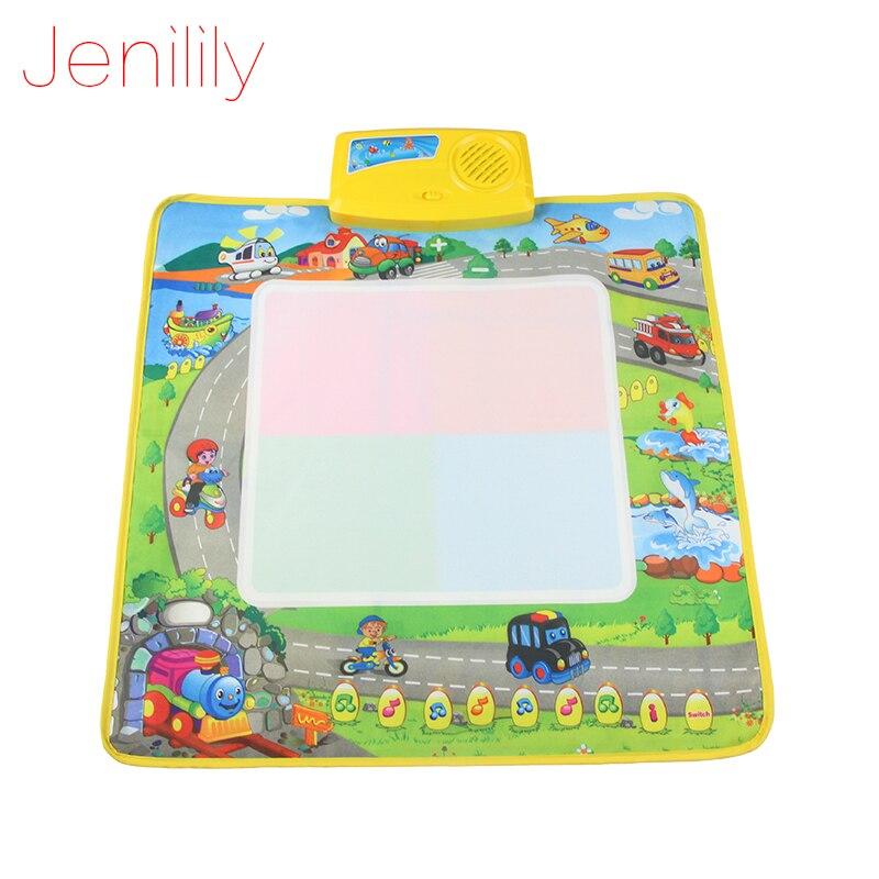 Jenilily Cp1360 50X50 см большой размер Воды чертежной доске с 1 волшебное Перо/ребенка музыке мат/детские Обучение Мат/Ребенка играть мат