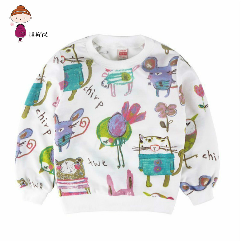 Children Clothes Toddler clothes Long Sleeve Sweater For Girls Boys Graffiti Cartoon Kids Autumn Sweatshirt(China)
