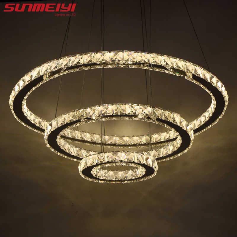 Современный светодиодный хрустальная люстра лампа для гостиной хрустальные люстры подвесные потолочные светильники