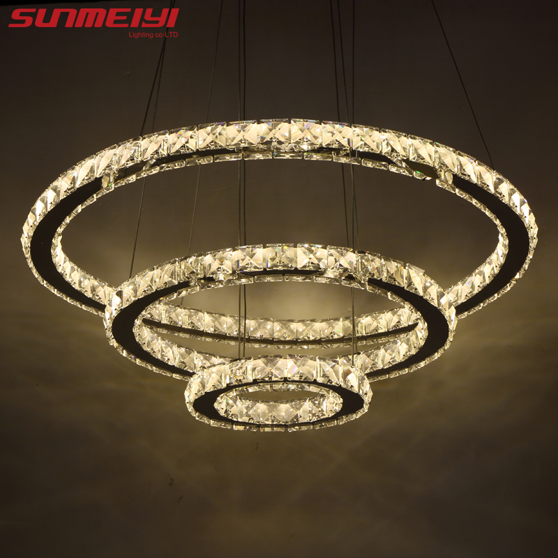 Us 53 77 55 Off Modern Led Crystal Chandelier Lights Lamp For Living Room Cristal Re Chandeliers Lighting Pendant Hanging Ceiling Fixtures In