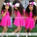 [Bosudhsou] F9# Baby Dress Summer Girl Dress Princess  Dress Children clothing pink/white cotton Dress knee-length size 2T-6