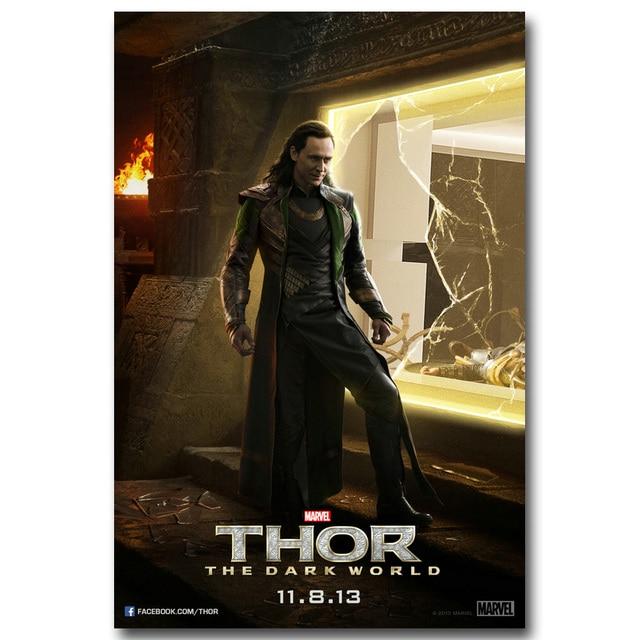 Плакат гобелен шелковый Тор постер с Локки