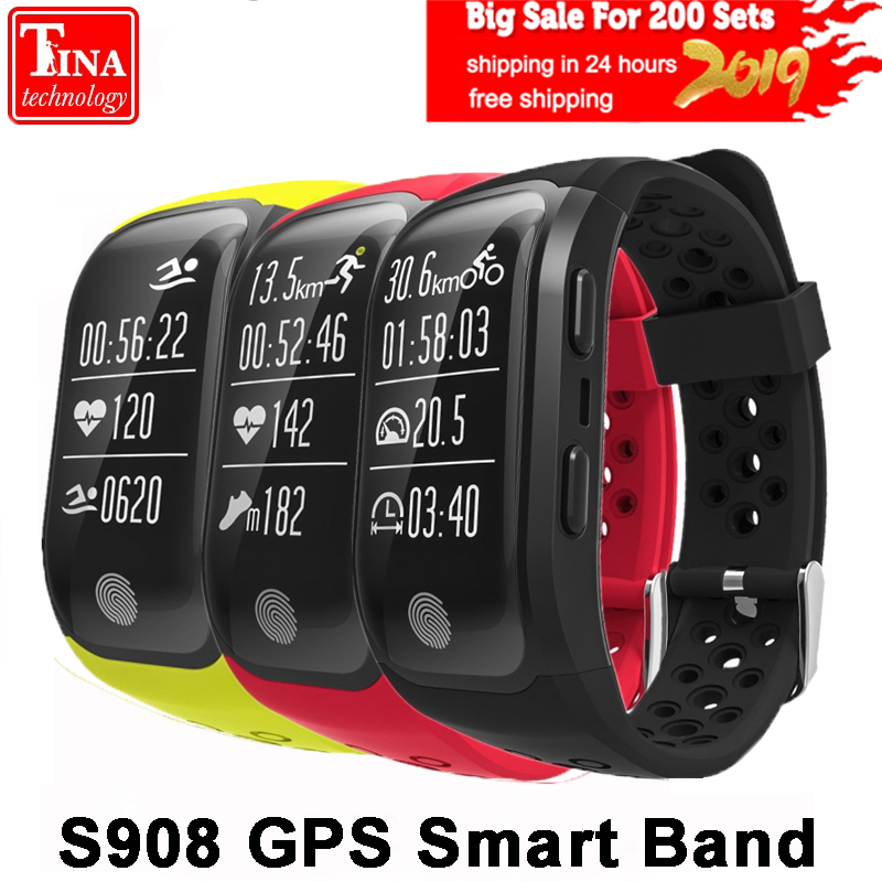S908 GPS Smart Band IP68 Waterproof Sports Wristband Multiple sports Heart Rate Monitor Call Reminder G03