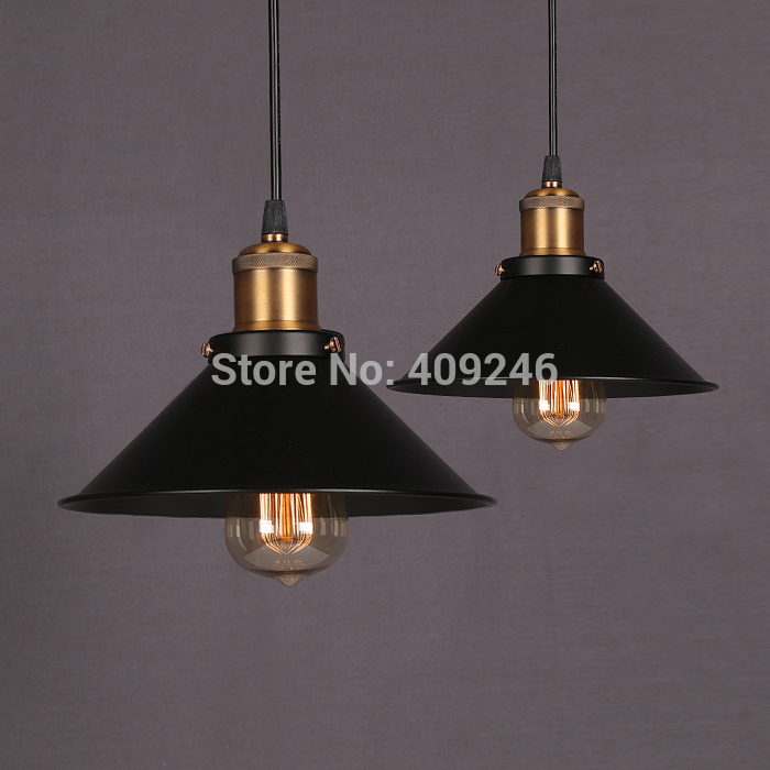 22cm Black Vintage Metal Industrial Pendant Light Edison Ceiling Lamp Retro Cafe Bar Club Coffee Shop nordic vintage loft industrial edison spring ceiling lamp droplight pendant cafe bar hanging light hall coffee shop store