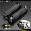 "For Harley Handlebar Grips Handle Bar Grips 1""25mm fits Softail Sportster Touring Dyna Custom CNC Aluminum&None-Slip Gel Rubber"