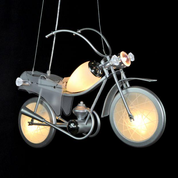Lampe créative LED de lampe édition spéciale paquet moto pendentif lumière bande dessinée éclairage enfants chambre personnalisée ET48