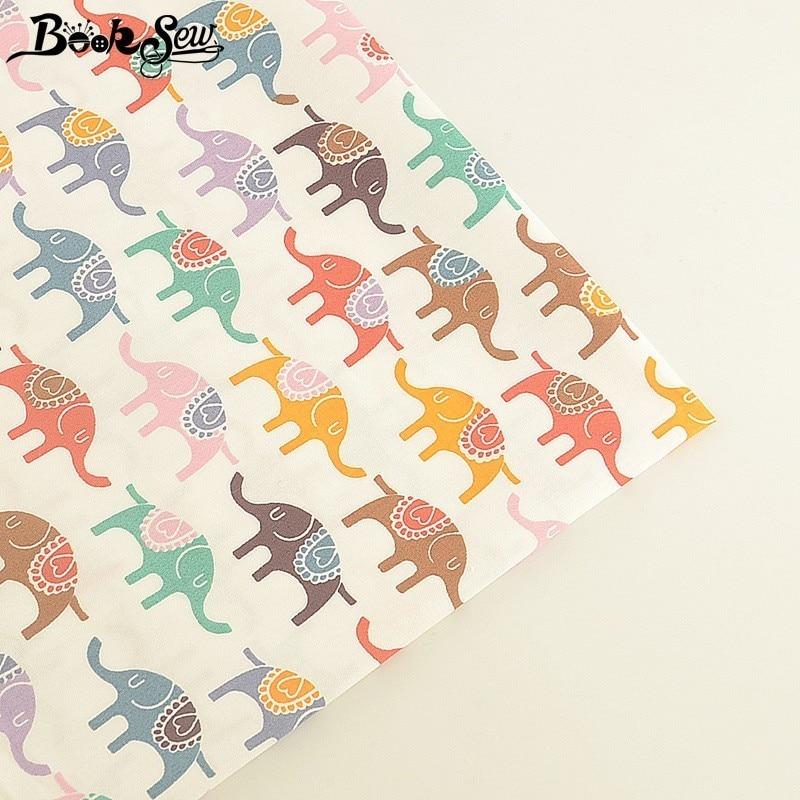 Закладка Telas слон узор 100% хлопок ткань метр ткань африканская ткань DIY платье постельное белье лоскутные одеяла для маленьких детей