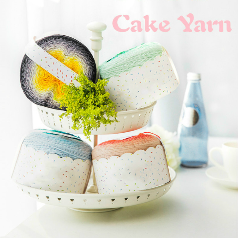 2018 New Arrival 225 G Fancy Crocheting Yarn For Shawl Children Dress Cake Gradient Color Cotton Yarn Diy Hand Knitting Material