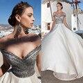 2017 Chegada Nova Árabe vestido de Baile Stain Fora Do Ombro Sem Encosto Até O Chão Contas Lantejoulas Formais Vestidos de Festa