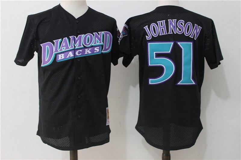 a2c1ece61 ... Mens Arizona Diamondbacks Baseball jerseys Randy Johnson Paul  Goldschmidt Mitchell Ness Black Mesh Batting Jersey ...