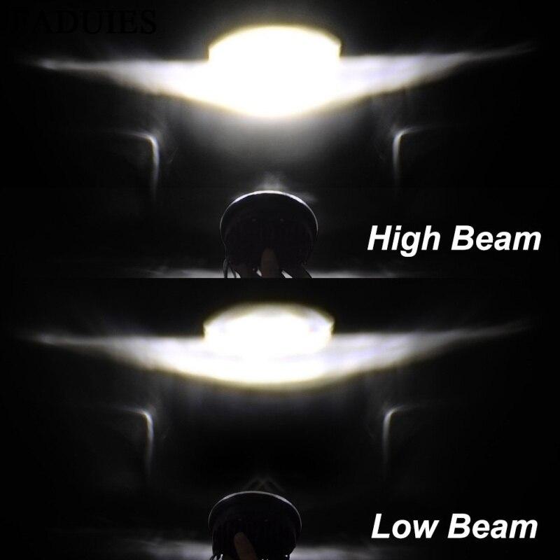 lowest price FADUIES Chrome 5 75 inch LED Headlamp 5 3 4 inch  LED headlamp For Harley Iron 883 Dyna Street Bob FXDB Sportsters