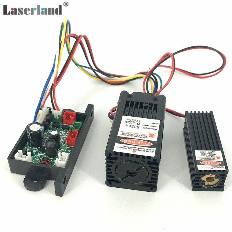 650nm 150mW Red + 532nm 50mW Green Laser Module Diode TTL 12V TEM Stage Lighting