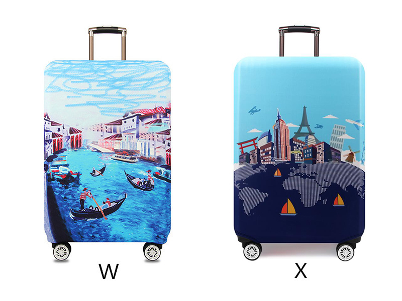 Thicker Travel Luggage Protective Cover Suitcase Case Travel Accessories Elastic Luggage Dust Cover Apply to 18''-32'' Suitcase 17