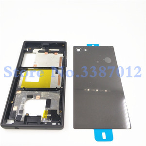 Image 2 - Original Full Housing LCD Panel Middle Frame For Sony Xperia Z5 Compact E5803 E5823 Battery door Cover Side Button With Logo