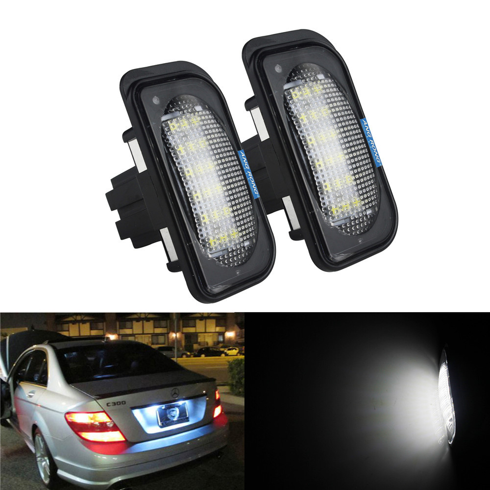 Pair Canbus Xenon White LED Number Licence Plate Bulbs Replacement Part For Clk