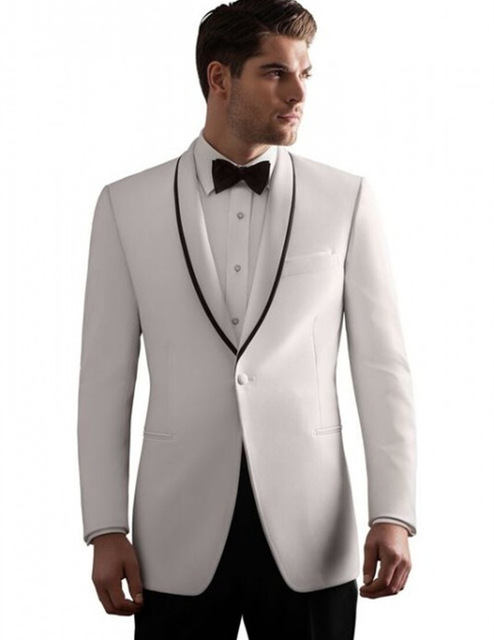 ae4f2270e Classic Style Mens Dinner Party Prom Suits Groom Tuxedos Groomsmen Wedding  Blazer Suits (Jacket+Pants+Girdle+Tie) K:1506-in Suits from Men's Clothing  & ...