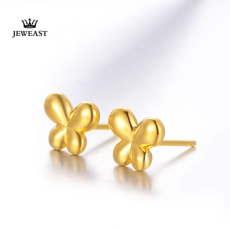 BBB 24K Pure Gold earring solid 999 Gold 3D Hard Gold Earrings for ...