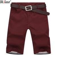 Riinr 2018 Summer New Mens Casual Shorts Cotton Slim Mid Beach Short Joggers Trousers Bermuda Masculina