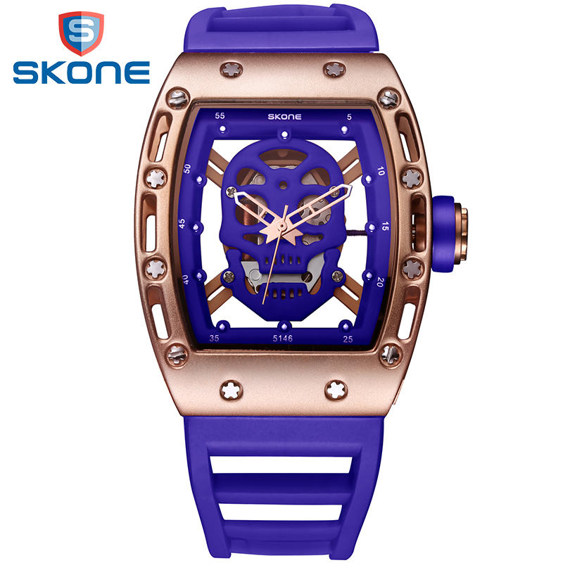 SKONE 2017 Pirate Skull Style Men Watches Military Silicone Waterproof Wristwatch Fashion Casual Quartz Men Watch Relojes Hombre bmbe табурет pirate
