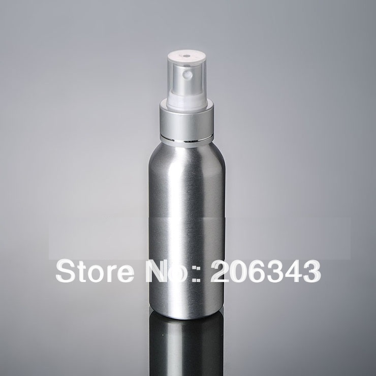 100pcs 100ml Aluminium bottle pump sprayer bottle black pump spray head Aluminum metal bottle spray bottle