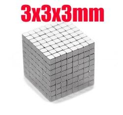 10/20/50/100 Uds. 3*3*3 N35 magnetStrong bloque cubo imanes 3mm x 3mm x 3mm imanes de neodimio de tierras raras 3x3x3
