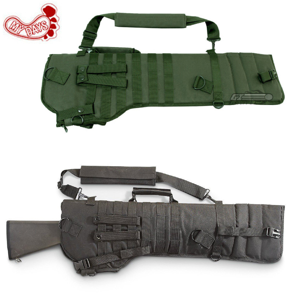 MY DAYS Tactical Rifle Scabbard army green black military holster Assault Shotgun Rifle Hunting Bag long gun Protection carrier cs force tactical shotgun scabbard holster military army gun bags shell holder rifle case hunting backpack single shoulder molle