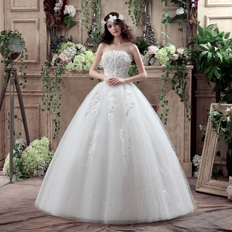 Bridal Wedding Dresses Bride's Lace Up Ball Gowns Wedding