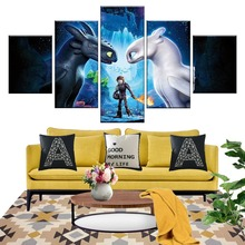 How To Train Your Dragon 3 The Hidden World Cartoon Movie Poster Pictures Decorative Painting for Living Room Wall Decor