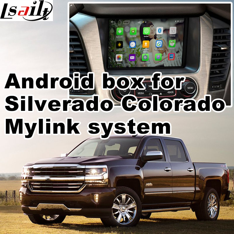 Android GPS navigation box for 2014 Chevrolet Silverado Mylink system video interface with cast screen