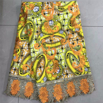 2019 Newest ankara Nigerian Lace Fabrics High Quality African Lace Embroidery Guipure Fabric For African Women Dress  df65-2101
