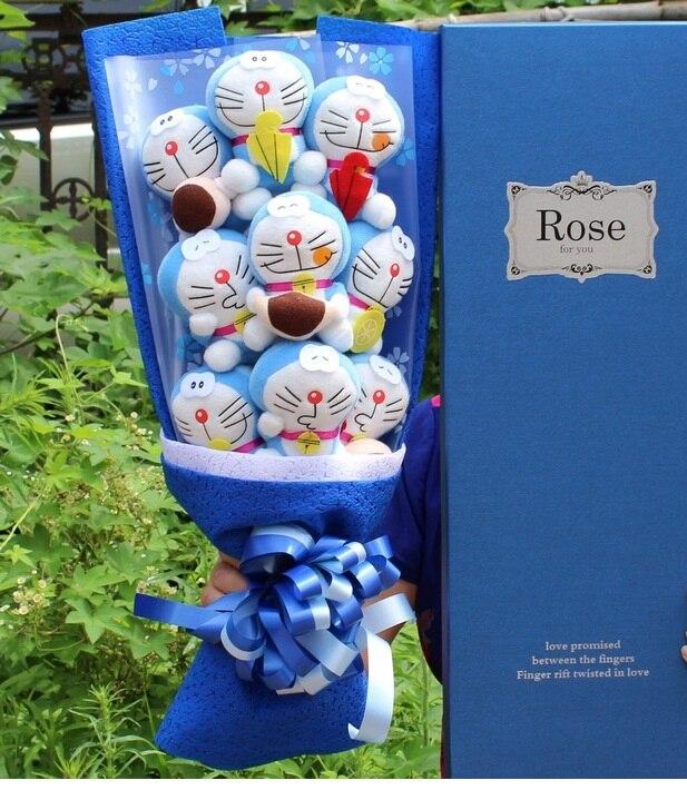 Kawaii 9 Doraemon чучело Плюшевые игрушки куклы мультфильм суп букет подарок без коробки День святого Валентина подарки на день рождения для девуш...