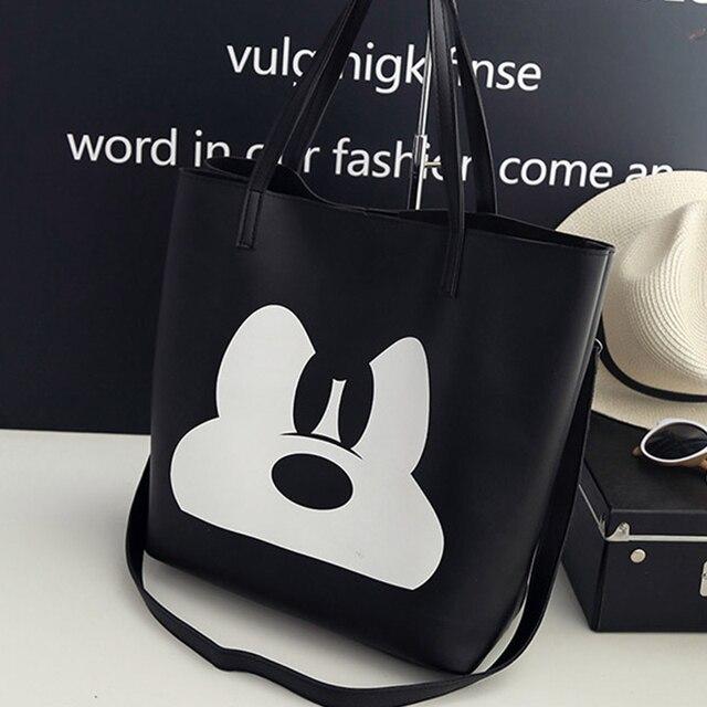2018 fashion pu leather handbag women joker shoulder bag large