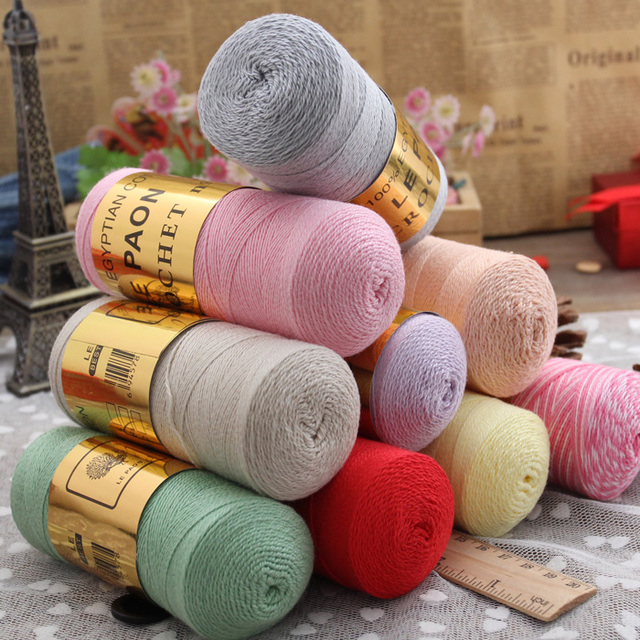 Быстрая бесплатная доставка Высокое качество Лето 5 # кружева хлопчатобумажной пряжи для вязания, 2 шт. 170 г/пакет, 1.75 мм-2.25 мм крючки, 35 цветов