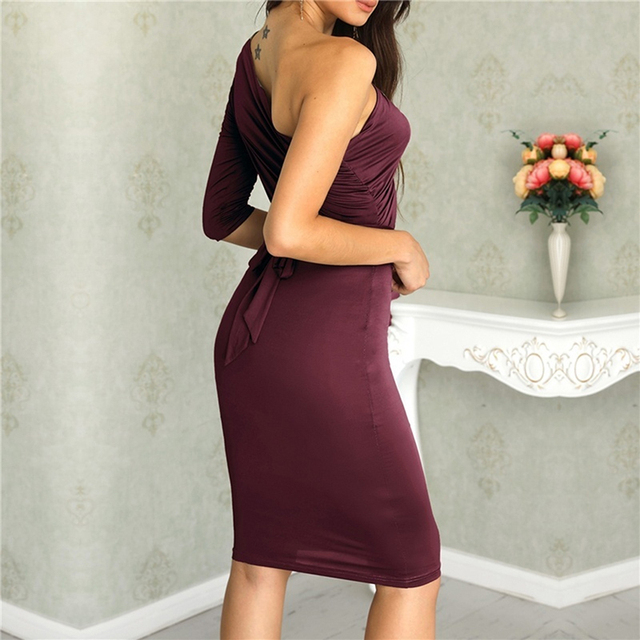 One Shoulder Bodycon Party Dresses 3