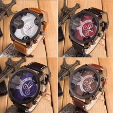 New 2017 Fashion relogio masculino Reloj Watch Men Luxury Analog Sport Steel Case Quartz Leather WristWatch gift clock 1227d40