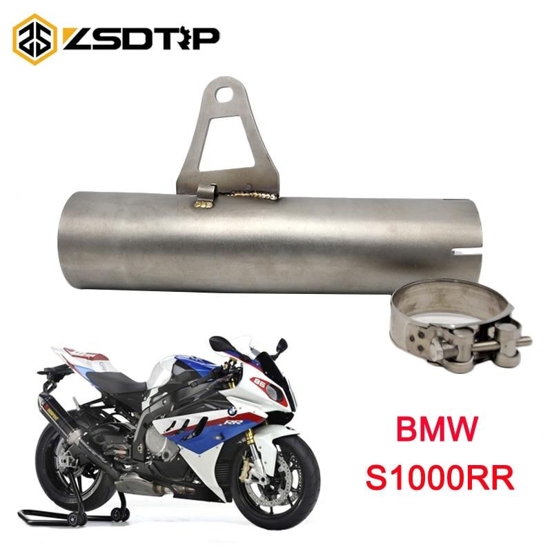 ZSDTRP 60mm moto échappement moyen 60mm tuyau pour BMW S1000RR 2010-2014 sans échappement